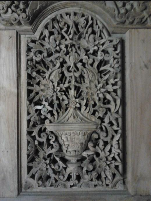 detail tiang gebyok kudusan 3 dimensi
