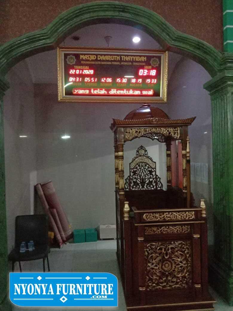 Mimbar masjid ukir tangerang banten