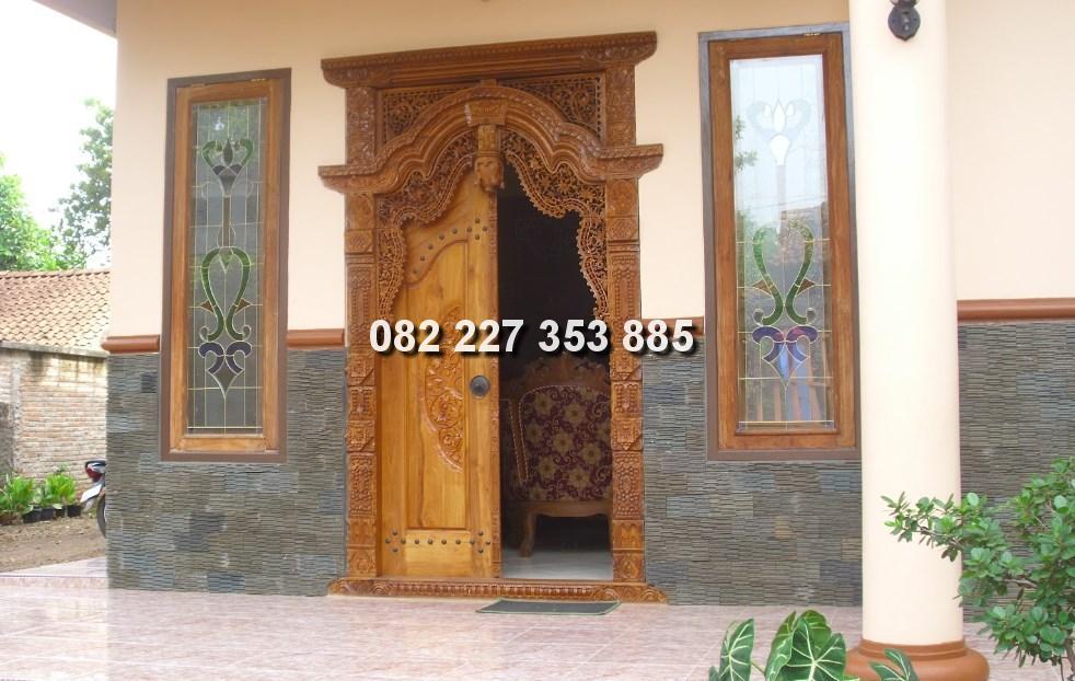 Pintu gebyok Ukir Jepara jawa tengah