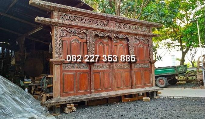 harga pintu gebyok kuno kayu bekas