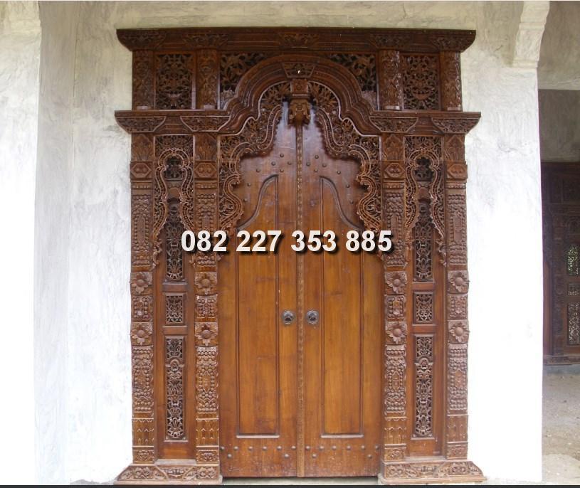 pintu Gapura gebyok ukir 2 meter