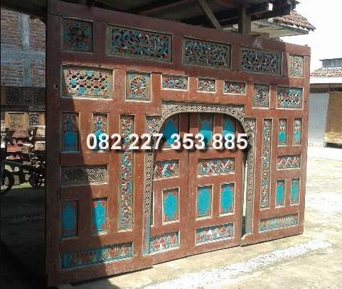 pintu gebyok jawa kuno jati bekas