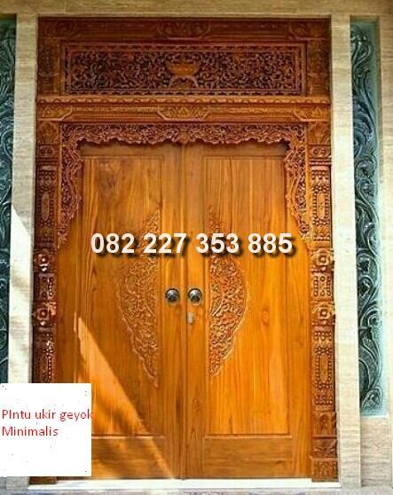 pintu gebyok minimalis jati