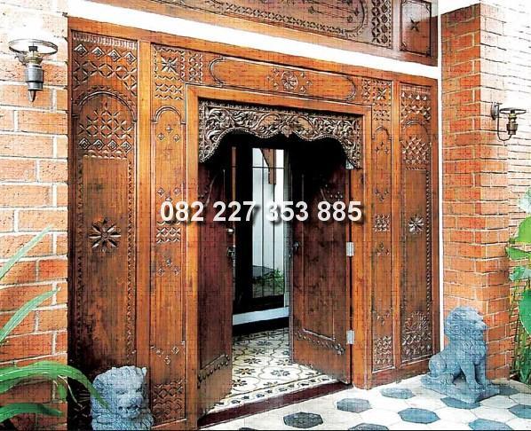 pintu gebyok minimalis khas bali