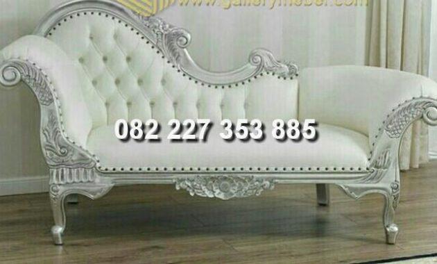 kursi jati lois jok warna putih