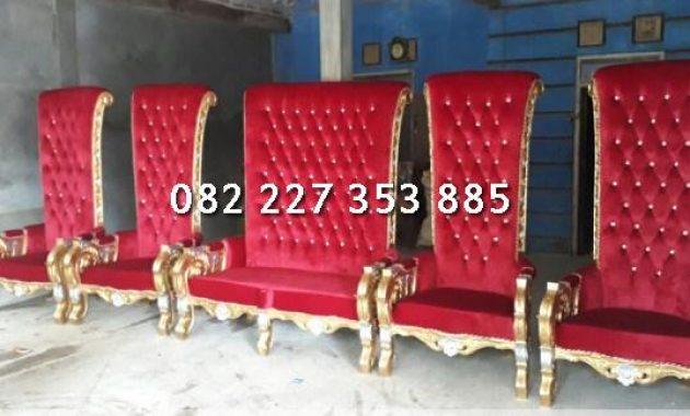 kursi pengantin warna merah model bellagio