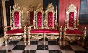 Sofa Pengantin Raja ukiran kepala singa