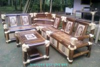 Kursi Sudut Dari Bambu