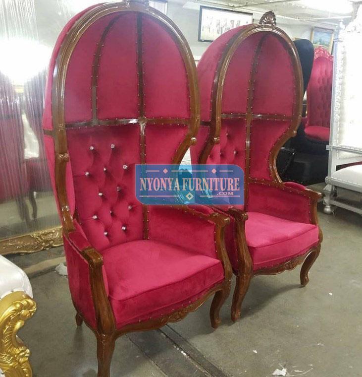 kursi pelaminan kerodong merah