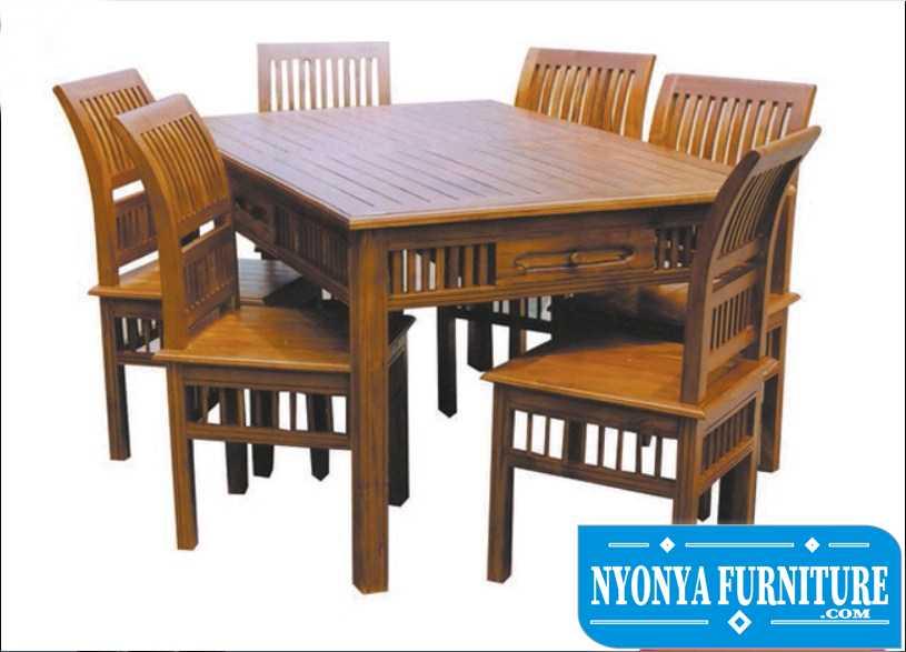 Jual kursi meja makan jati di magelang