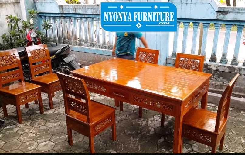 Jual kursi meja makan kartini harga murah kayu jati