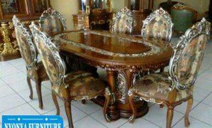 Set meja makan rosalinda