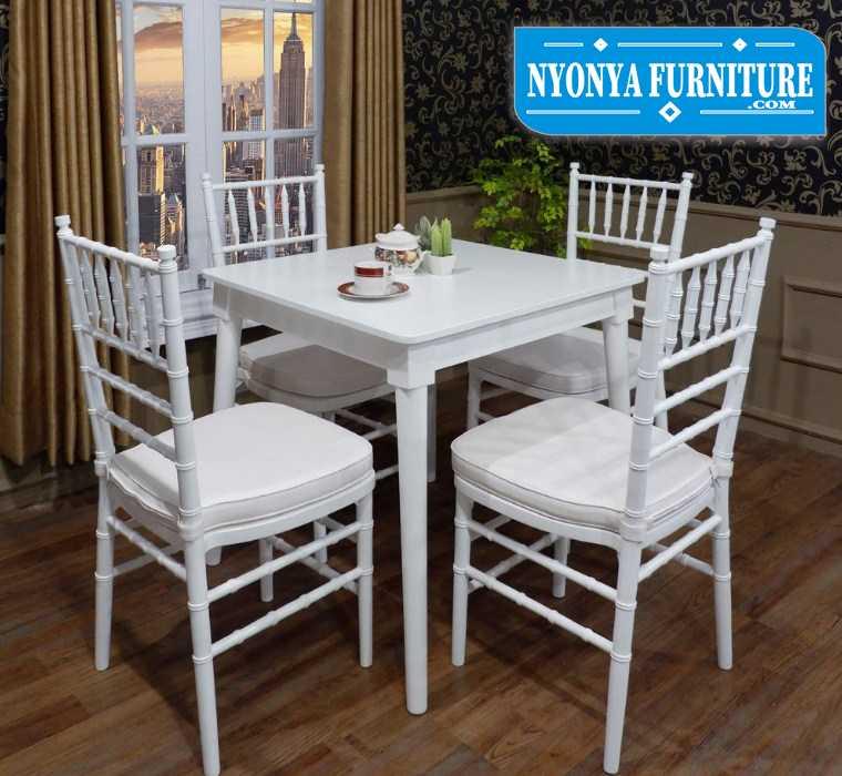 meja makan minimalis 4 kursi tiffany