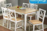 Meja kursi makan crossback Duco putih