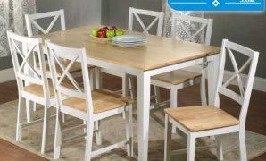meja makan minimalis modern 6 kursi