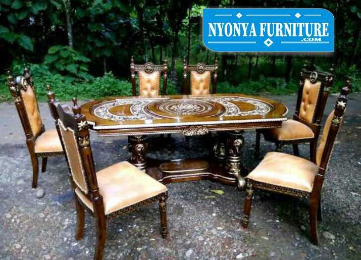 set meja makan manohara 6 kursi