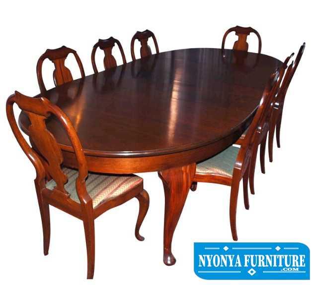 set meja makan oval