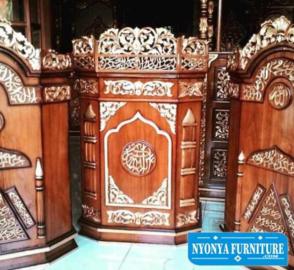 Jual mimbar masjid bandung kayu jati