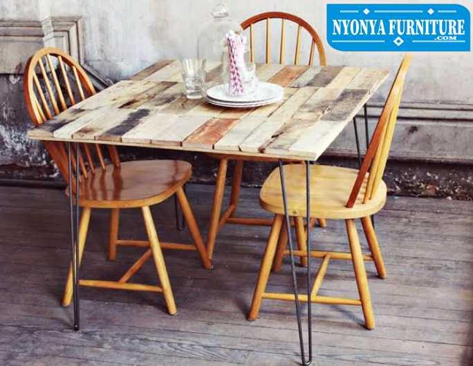 meja makan retro