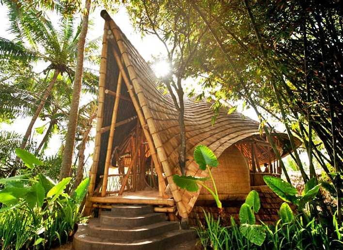 Gazebo Bambu Unik Desain Yang Tak Terfikirkan