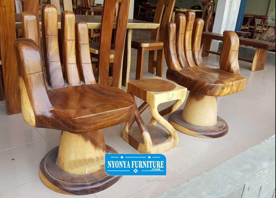 kursi teras tangan unik