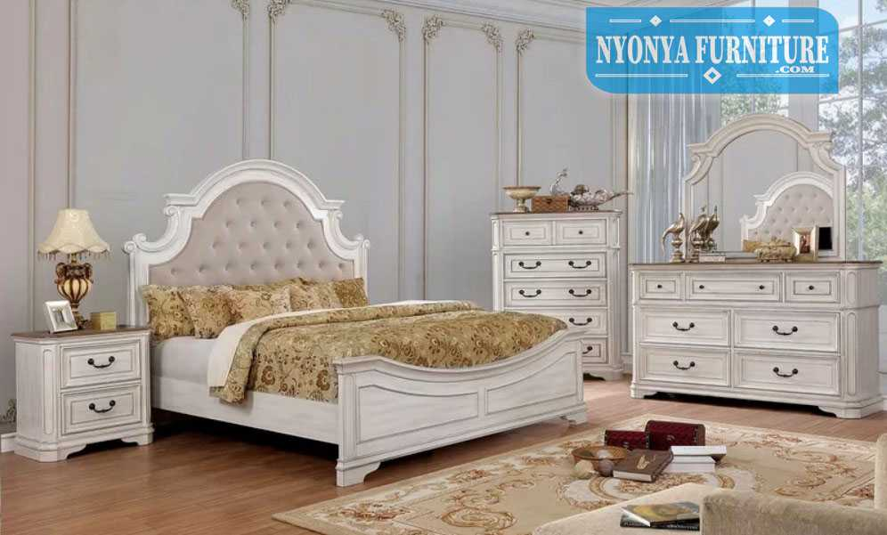 kamar set minimalis mewah warna putih