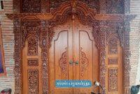 Pintu Gebyok ukuran 3 meter pesanan dari cilacap
