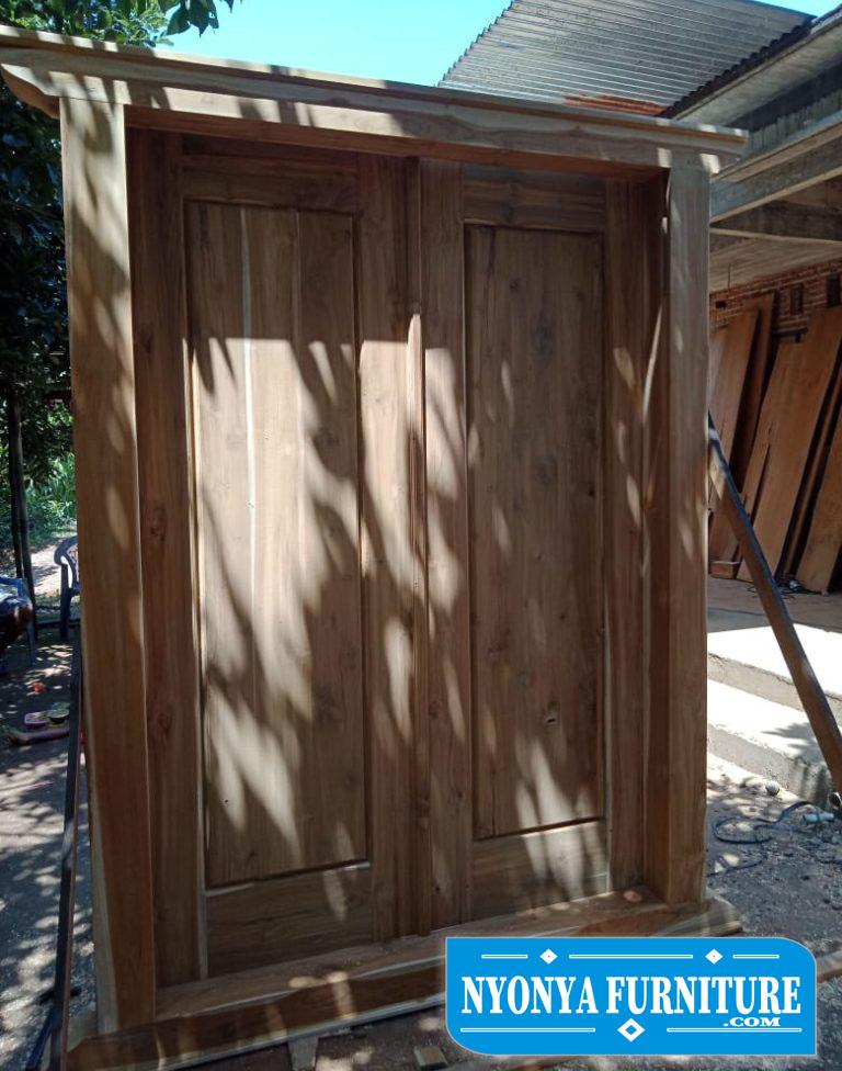 pintu gebyok tanpa ukiran