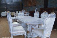 Meja Makan Gendong Kursi Ganesa Duco Putih